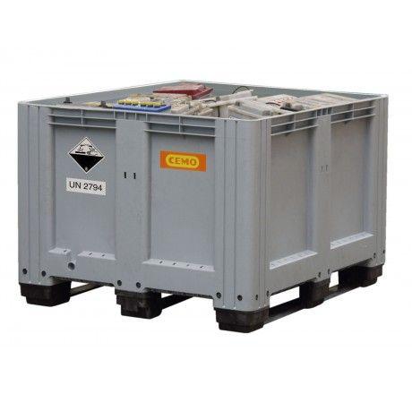 Altbatterie-Box zur Lagerung im Gebäude