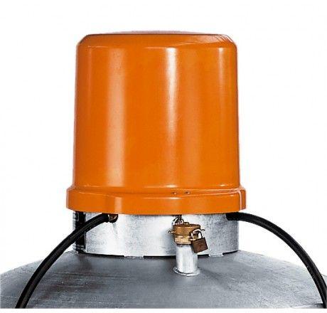 Abschließbare Pumpenhaupe