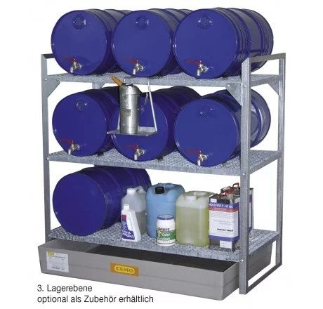 Fassregal Typ 360 für 6x60 l Fässer oder Kleingebinde